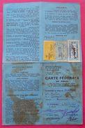 1981 Carte Fédérale De Pêche 3 Timbres Fiscaux Sur Document Blagnac Très Tâché  Dos Scanné - Fiscaux