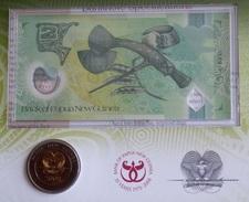 Papua New Guinea Set Of 2 Items: 2 Kina COIN + NOTE 2008 UNC - Papouasie-Nouvelle-Guinée