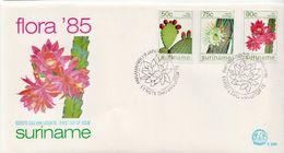 Suriname Set On 2 FDCs - Cactusses