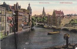 Amsterdam Binnen-Amstel # 1906 Schepen Halvemaansbrug    558 - Amsterdam
