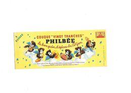 Buvard  Pain D'épices Philbée Couque Vingt Tranches - Alimentare