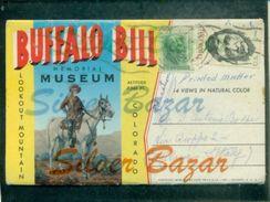 INDIANI D'AMERICA- BUFFALO-PIEGHVOLE DI 14 VEDUTE-BUFFALO BILL MEMORIAL MUSEUM - Indiani Dell'America Del Nord