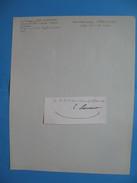 Autographe Sur Fragment Jean-André-Tiburce Sebastiani  La Porta 1786 - 1871 Bastia  Colonel - Autographes