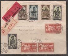 COTE D'IVOIRE LETTRE AVEC TPS HAUTE VOLTA SURCHARGE COTE D'IVOIRE EN RECOMMANDEE PAR AVION DATE DE DEPART 16/7/38 - Costa D'Avorio (1892-1944)