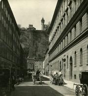 Autriche Salzbourg Mönchsberg Ascenseur Electrique Ancienne Stereo Photo Wurthle 1900 - Stereoscopic