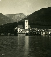 Autriche Salzkammergut Saint Wolfgang Ancienne Stereo Photo Wurthle 1900 - Stereoscopic