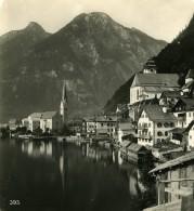 Autriche Salzkammergut Hallstatt Village Ancienne Stereo Photo Wurthle 1900 - Photos Stéréoscopiques