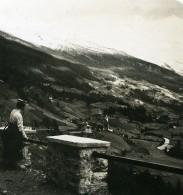 Autriche Hohe Tauern Heiligenblut Panorama Ancienne Stereo Photo NPG 1900 - Stereoscopic