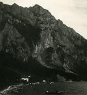 Autriche Salzkammergut Gmunden Restaurant Ancienne Stereo Photo Photochrom 1900 - Stereoscopic