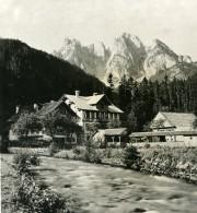 Autriche Salzkammergut Gosauschmied Donnerkogel Ancienne Stereo Photo Photochrom 1900 - Stereoscopic