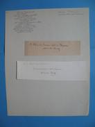Autographe Sur Fragment Achille Fould  1800 - 1867  Députés / Ministre Des Finances - Autographes