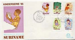 Suriname Set And SS On 2 FDCs - Other