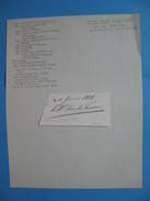 Autographe Sur Fragment Edouard Casimir Adolphe Joseph Mortier Duc De Trévise 1768 - 1835  Capitaine / Député - Autographes