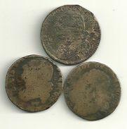 Lot 3x 12 Deniers Louis XVI - 1789 – 1795 Monete Costituzionali