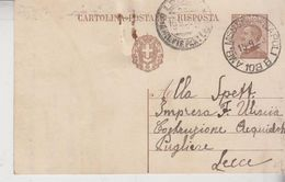 Interi Postali Regno 13/9/1930  Amb. Messina Napoli Numerico Per Lecce - Interi Postali