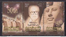 EGYPT , 2016, MNH, TEMPLES, ARCHAEOLOGY, ANCIENT EGYPT, SAVE ABU SIMBEL TEMPLE, 3v - Archaeology