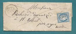 Corrèze - Juillac Pour St Robert. GC + CàD Type 17 - Marcophilie (Lettres)