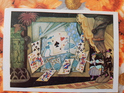 OLD USSR Postcard   - Andersen Fairy Tale 1980s  - PLAYING CARDS - Cartes à Jouer