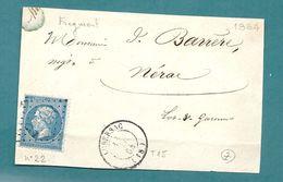 Corrèze - Lubersac Pour Nérac. GC + CàD Type 15. - Postmark Collection (Covers)