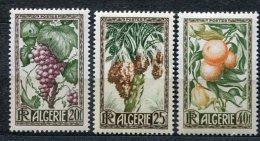 3733  ALGERIE   N°279/81**    Productions Algériennes      1950    SUPERBE - Neufs