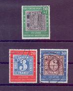 Bund 1949 - Tag Der Briefm. MiNr.113/115 Rund Gestempelt - Michel 140,00 € (188) - Used Stamps