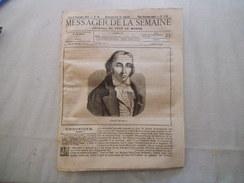MESSAGER DE LA SEMAINE 8 SEPTEMBRE 1877 JACQUARD,MORT DE BRIGHAM-YOUNG LE PROPHETE DES MORMONS,M. THIERS.... - Books, Magazines, Comics