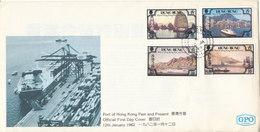 Hong Kong FDC 12-1-1982 Complete Set Of 4 Port Of Hong Kong Past And Present With Cachet - Hong Kong (...-1997)