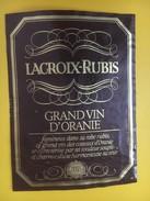 4664 - Lacroix-Rubis Grand Vin D'Oranie Algérie - Etiquettes