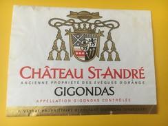 4671 - Château St-André Gigondas - Etiquettes