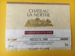 4672 - Château La Nerthe 1986 - Côtes Du Rhône