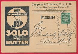 Werbe AK 'Jurgens & Prinzen' GOSLAR ~ 1925 - Werbepostkarten