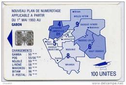 GABON 100u Bleue SC7 Lot Rouge N° C59152971 - Gabon