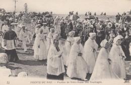 La Pointe Du Raz Bretagne France, Forgiveness Of Our Lady Of Shipwrecks, Navy Catholic Ceremony, C1910s Vintage Postcard - Bretagne