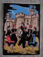 Ancien - Carte Postale Velours Danseurs Occitan Edition Publimodern Perpignan - Costumes