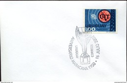 18891 Uruguay, Special Postmark 2002,  Stadium  Anniversary Maracana 1950, Football Rimet Cup - Brieven En Documenten
