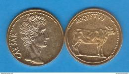 Cesar Augusto AUREO Oro Siglo I A.C. Replica  T-DL-11.933 - 1. La Dinastía Julio-Claudia (-27 / 69)