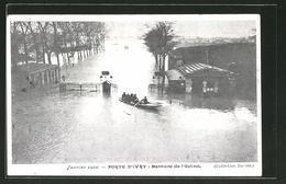CPA Paris, Inondation 1910, Porte D'Ivry, Barriere De L'Octroi - Unclassified