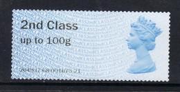 GB 2016 QE2 2nd Class Up To 100 Gms  Post & Go Unused No Gum ( K387 ) - Gran Bretagna