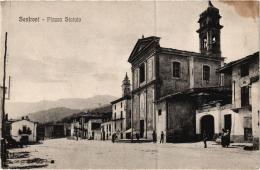 SANFRONT PIAZZA STATUTO ,PERSONNAGES REF 53292 - Altre Città