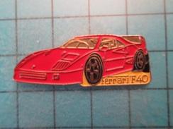 Pin2117 Pin´s Pins / Beau Et Rare : AUTOMOBILE / FERRARI F40 ROUGE - Ferrari