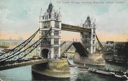 London - Thames: The Tower Bridge, Showing Bascules Raised - Aldwych Series - Carte Non Circulée - River Thames