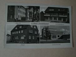 Lübeck - Stockelsdorf, 4 Ansichten, Kreissparkasse, Schule, Post, Wasserwerk, Gelaufen 1966 - Lübeck