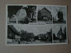 Gruß Aus Adenstedt, Sibbesse, 5 Ansichten, Geschäftshaus Masberg, Mühle, Kirche, Dorfstr., Ehrenmal, Gelaufen 1952 - Hildesheim