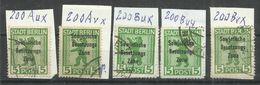 """Sowjetische Zone 200 """"5 Briefmarken In Unterschiedlicher Zähnung,Gummierung U.Papierart""""gestempelt Mi.:64,00 - Zone Soviétique"""