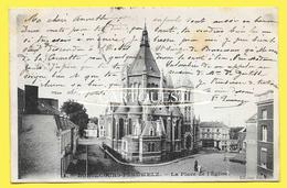 CPA BONSECOURS PERUWELZ La Place De L Eglise  1905    ( Précurseur  ) - Péruwelz