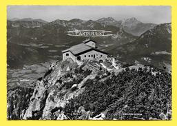 CPSM  Berchtesgaden Blick V. Kehlsteinhaus ( ( Tampon Café Restaurant  HINTERECK ) - Berchtesgaden