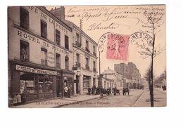 93 La Plaine Saint Denis Hotel De Picardie Café De La Poste Les Postes Et Telegraphes PTT Cpa Carte Animée Cachet 1906 - Saint Denis