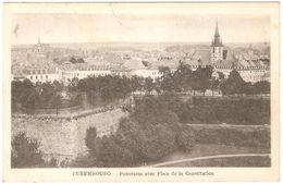 Luxembourg - Panorama Avec Place De La Constitution - 1922 - Luxembourg - Ville