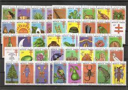 Mexique -Timbres De Loterie ( Série Complète De 50 Timbres Privés XXX -MNH- De 1999 à Voir) - Messico
