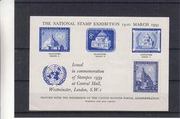 Nations Unies - Document De 1959 - Expo De 1959 à Londres - Avec Timbre De Central Hall - Vendu 750 FB En 1972 = ± 19 &e - New-York - Siège De L'ONU